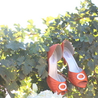 Flowers & Decor, Shoes, Fashion, orange, Flowers, Flower Wedding Dresses