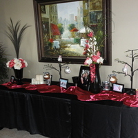 Ceremony, Reception, Flowers & Decor, Bridesmaids, Bridesmaids Dresses, Cakes, Fashion, pink, black, silver, cake