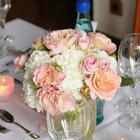Reception, Flowers & Decor, white, pink, Centerpieces, Vintage, Flowers, Vintage Wedding Flowers & Decor, Centerpiece, Rose, Hydrangea