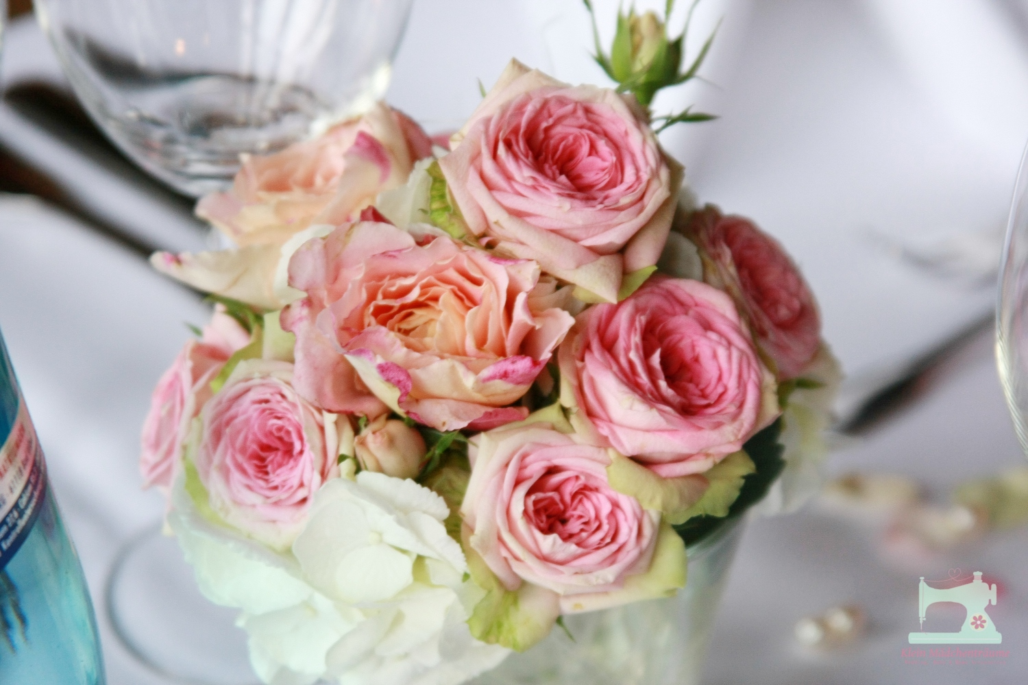 Reception, Flowers & Decor, white, pink, Centerpieces, Vintage, Flowers, Vintage Wedding Flowers & Decor, Centerpiece, Rose, Hydrangea, Inspiration board