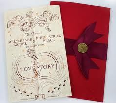 Stationery, Invitations, Wedding, Potter, Harry