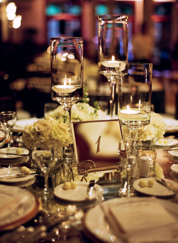 Registry, Drinkware, Menus, Table, Napkins, Glasses, Tablescape, Votives, Glowing, Candlelight, Dishes, Sophisticated, Amanda john