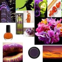 orange, purple, green, Inspiration board