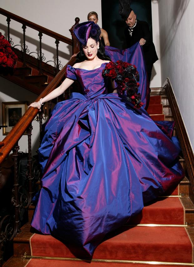 Wedding Dresses, Fashion, dress, Von, Teese, Dita, Non-white
