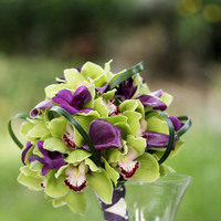 Flowers & Decor, white, purple, green, Flowers