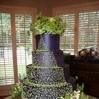 Flowers & Decor, Cakes, white, purple, green, cake, Flowers