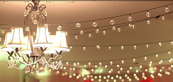 Ceremony, Reception, Flowers & Decor, Lights, Cafe, String, Globe