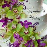 Flowers & Decor, Cakes, white, purple, green, cake, Flowers