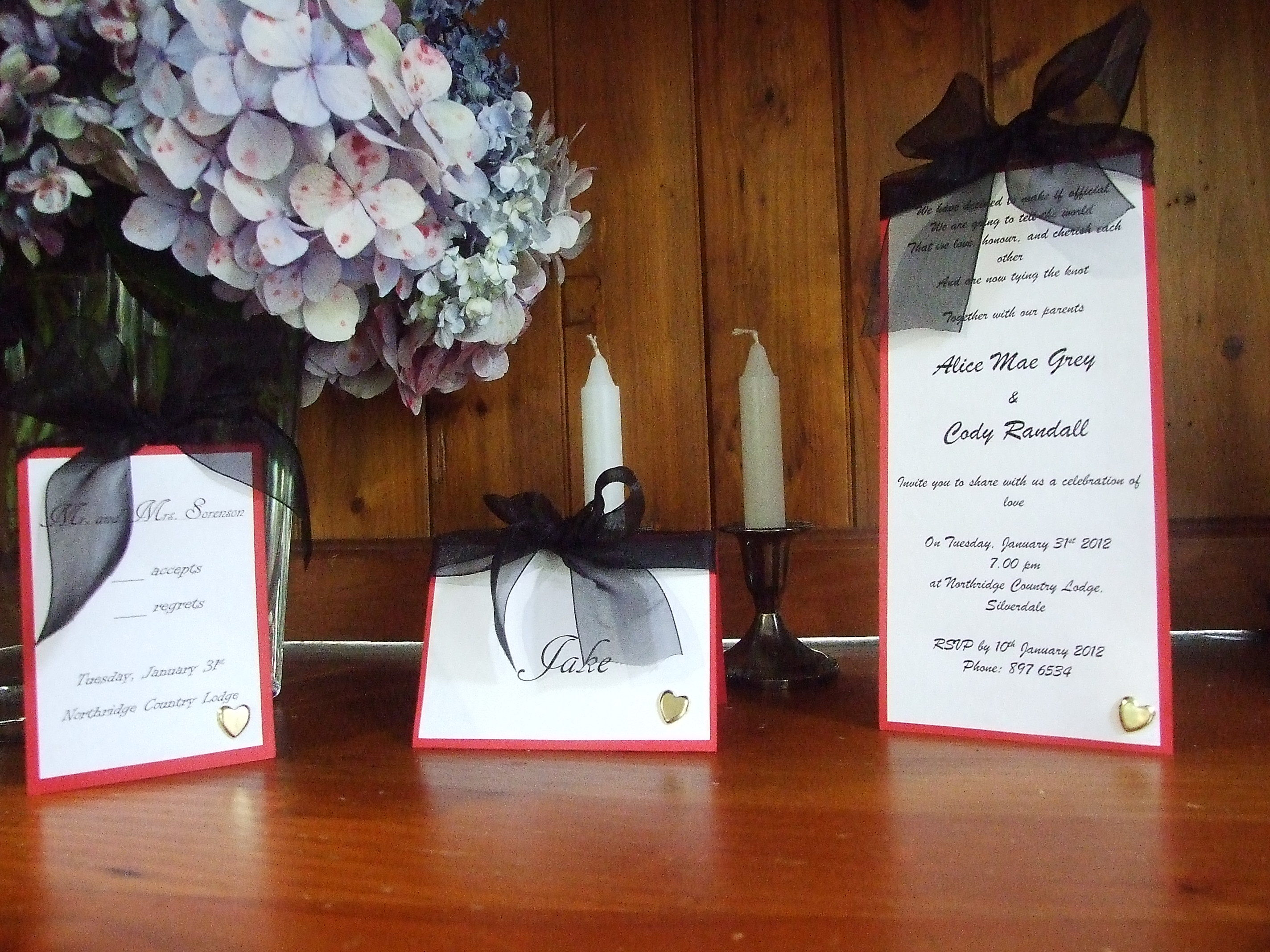 Reception, Flowers & Decor, Stationery, red, black, gold, Invitations, Wedding