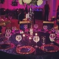 Reception, Flowers & Decor, purple, gold