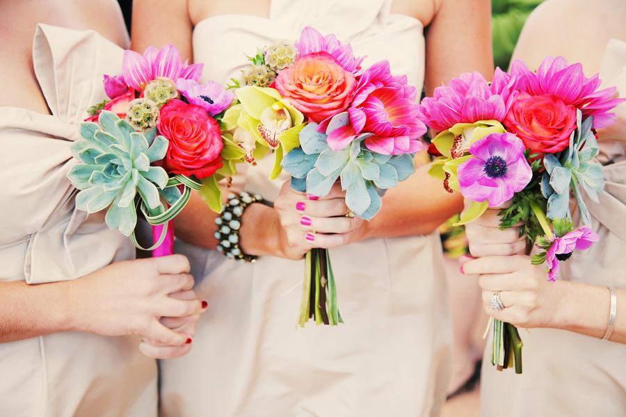 Bridesmaid, Bouquets, Fuchsia, Lacey easton