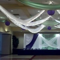 Reception, Flowers & Decor, purple, Elegant, Draping, Backdrop, Lapis