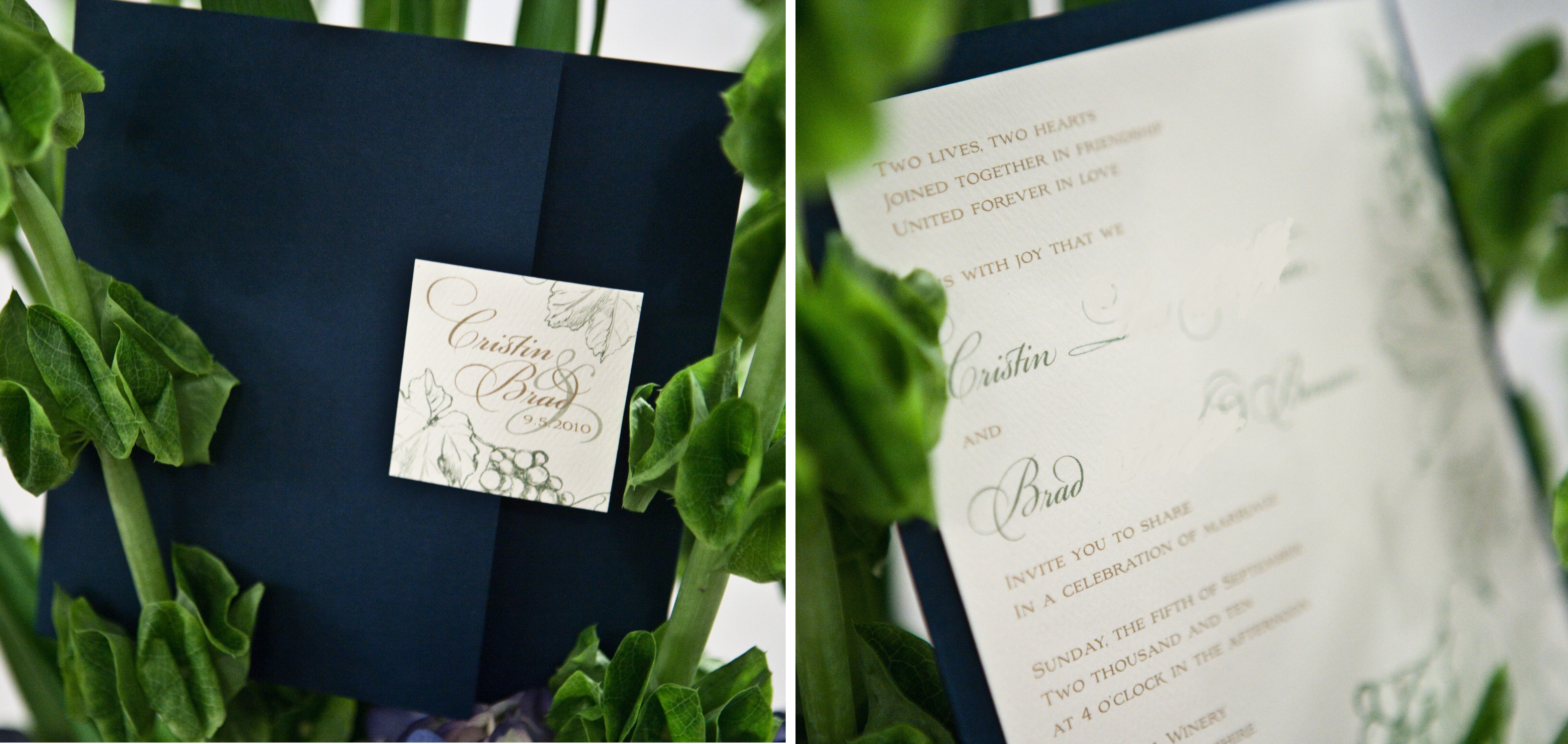 Stationery, blue, green, Invitations