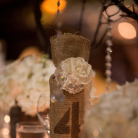 Reception, Flowers & Decor, white, yellow, orange, pink, red, purple, blue, green, brown, black, silver, gold, Rustic, Rustic Wedding Flowers & Decor, Wedding, Table, Numbers, Themed, Girly