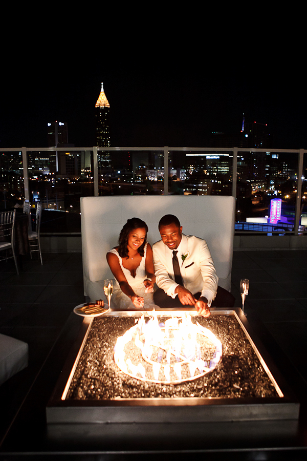Bride, Groom, Fire, Skyline, Night, Pit, Asha bryson