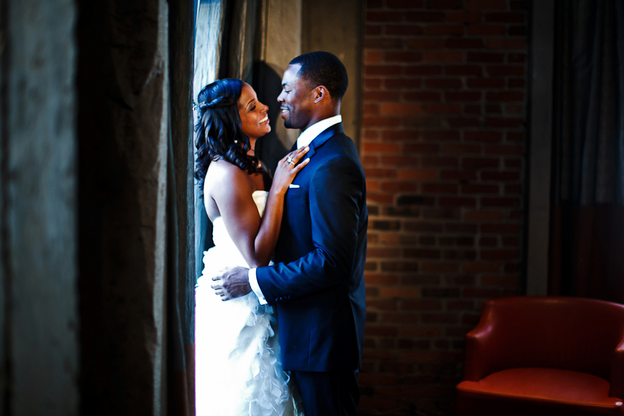 Bride, Groom, And, Kissing, Asha bryson