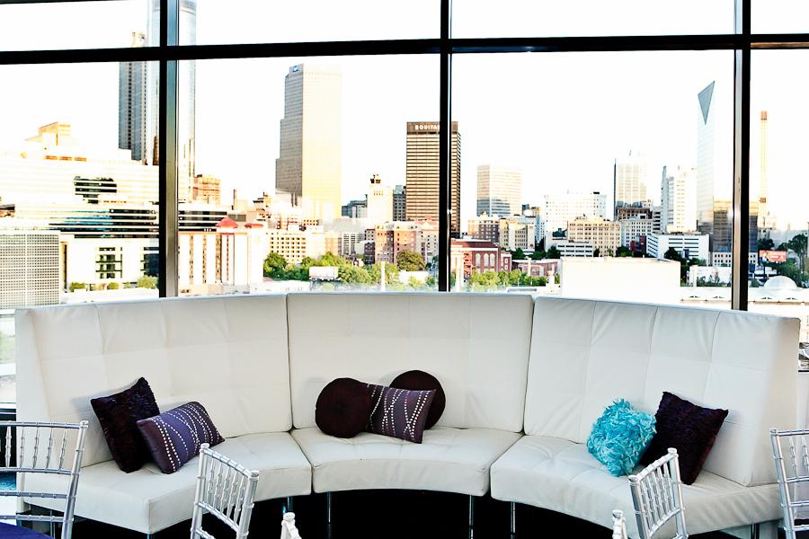 purple, blue, Teal, Lounge, View, Windows, Pillows, Couch, Asha bryson