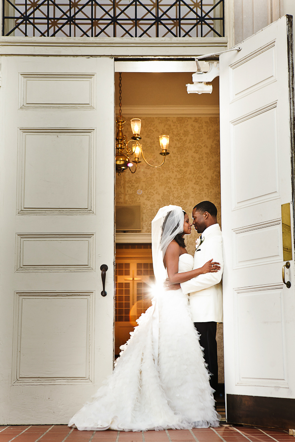 Bride, Groom, And, Married, Doorway, Together, Kissing, Skirt, Asha bryson