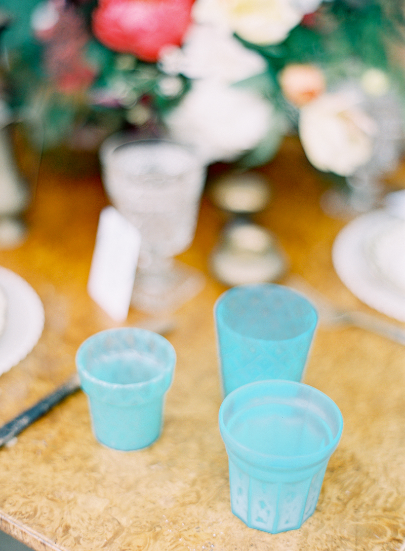 Teal, Turquoise, Cups, Tabletop, Aude gilles