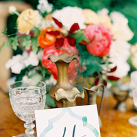 pink, red, Centerpiece, Table, Teal, Colorful, Number, Florals, Aude gilles