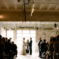 Ceremony, Flowers & Decor, Bride, Groom, Urban, Loft, Gallery, Audience, Sara mark
