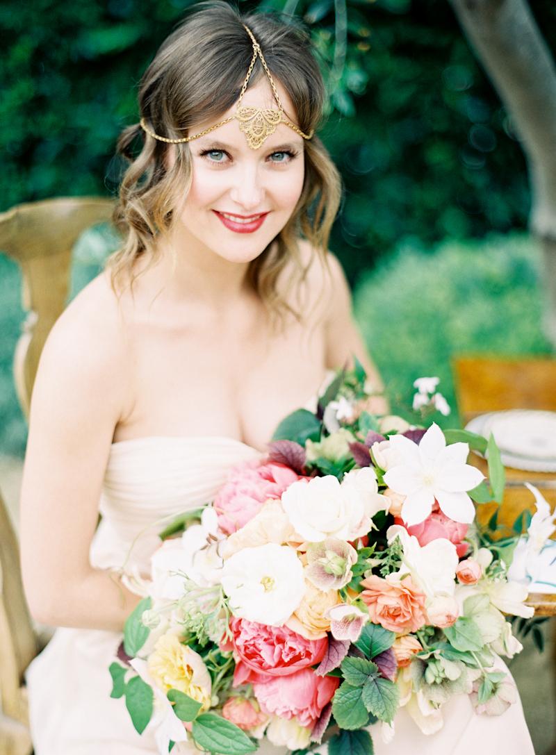 Bride, Bouquet, Chic, Bohemian, Aude gilles