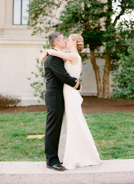 Bride, Groom, Grass, Tree, Couple, Kissing, Nature, Sara mark