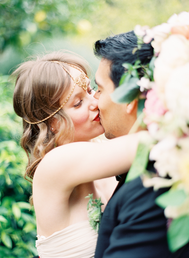 Bride, Groom, Kiss, And, Couple, Aude gilles