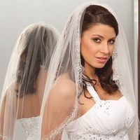Ceremony, Flowers & Decor, Wedding Dresses, Veils, Fashion, white, dress, Veil, Crystal, Swarovski, Diamond, Rhinestone
