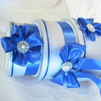 blue, silver