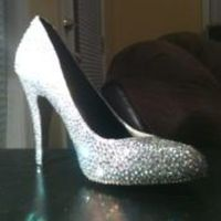 Shoes, Fashion, brown, silver, gold, Bridal, Shoe, Crystal, Service, Bling, Strassing, Strassed, Strass