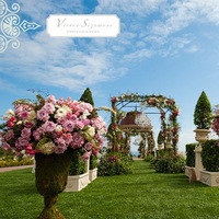 Ceremony, Flowers & Decor, pink, Ceremony Flowers, Flowers, Italian, Topiary, Urn
