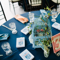 Reception, Flowers & Decor, blue