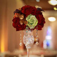 Reception, Flowers & Decor, orange, red, purple, green, gold, Flowers
