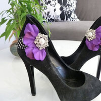 Bridesmaids, Bridesmaids Dresses, Shoes, Fashion, purple, black, Shoe, Inspiration board, Clips