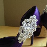 Bridesmaids, Bridesmaids Dresses, Shoes, Fashion, white, purple, Shoe, Inspiration board, Clips