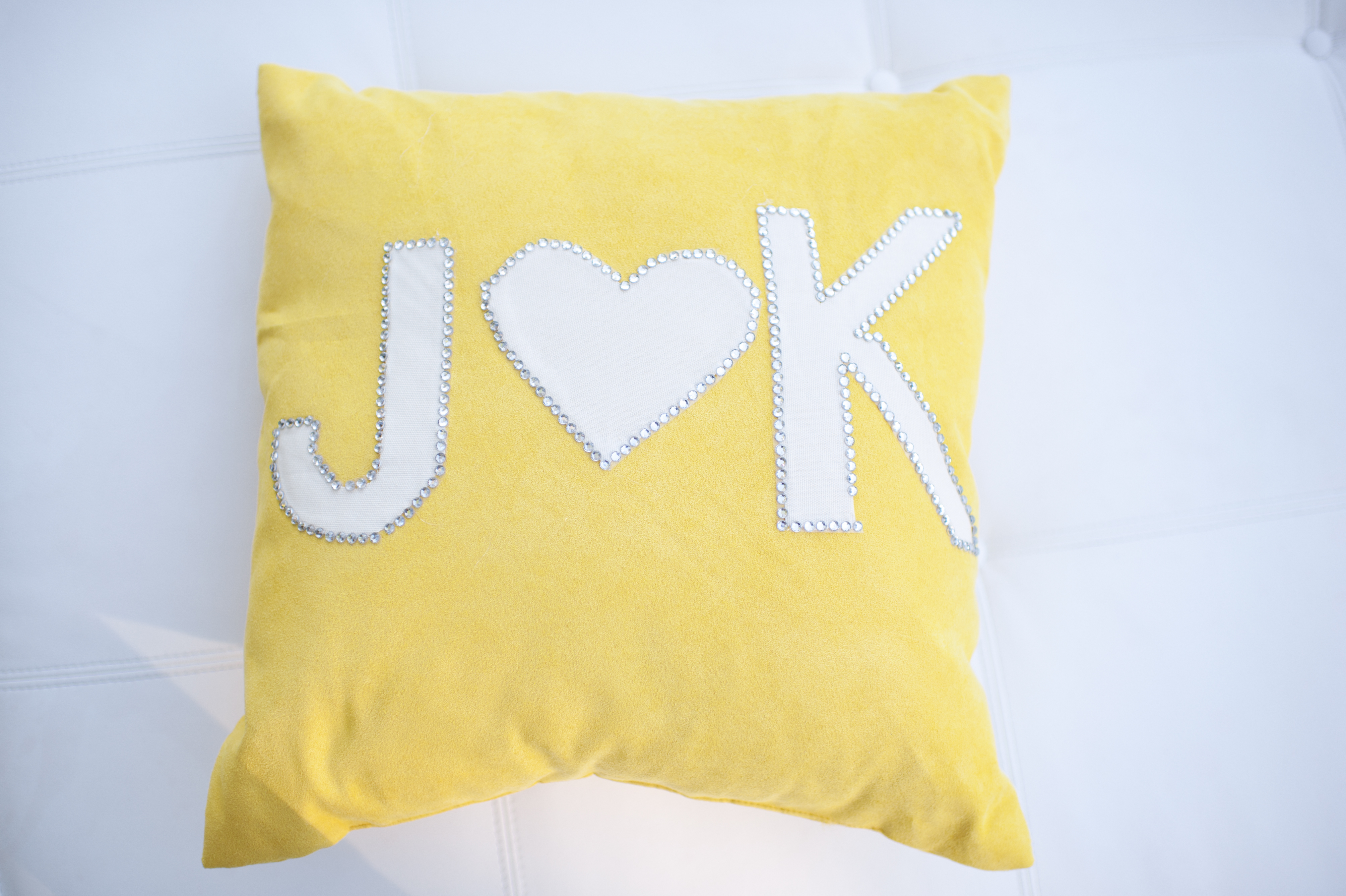 yellow, Monogram, Pillow, Jen kevin