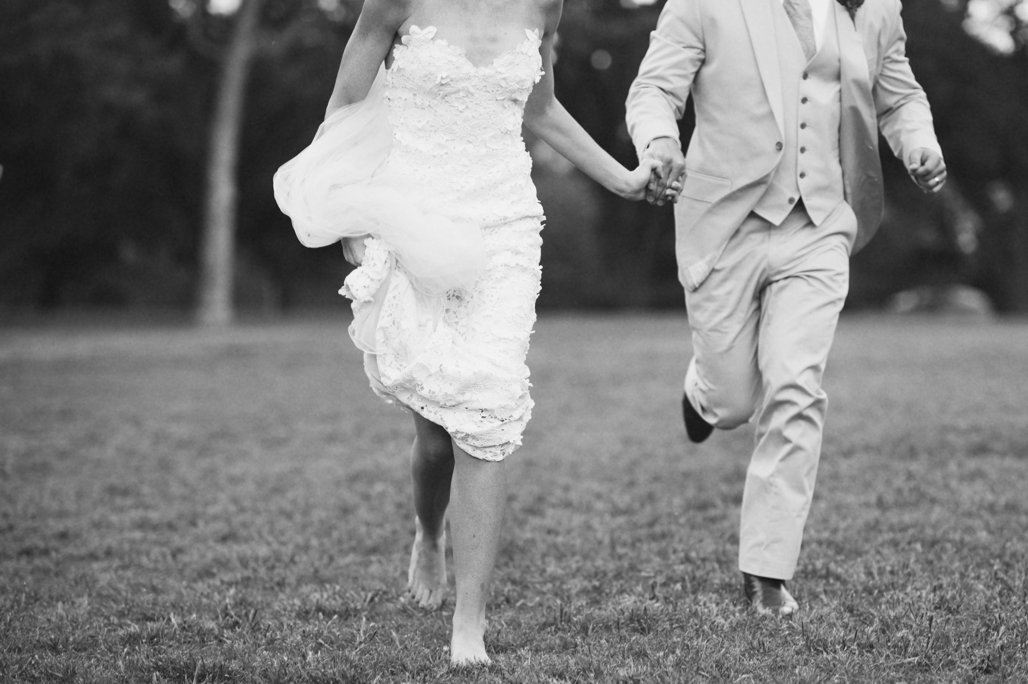 Bride, Groom, Running, Jen kevin