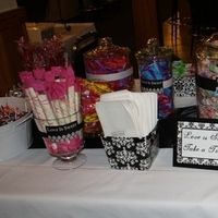 Reception, Flowers & Decor, white, green, black, Candy, Buffet