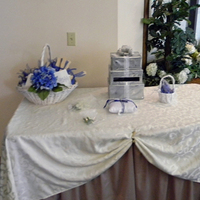 Ceremony, Flowers & Decor, white, blue, silver