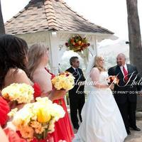 Ceremony, Flowers & Decor, yellow, red