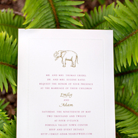 Stationery, green, Invitations, Elephant, Emily adam