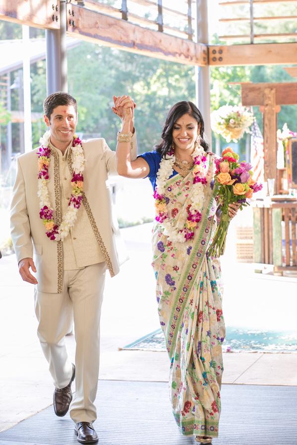 Reception, Flowers & Decor, Cultural, Bride, Groom, Together, Saree, Emily adam