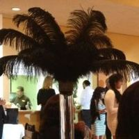 Beauty, Reception, Flowers & Decor, black, Feathers, Centerpieces, Centerpiece, Feather