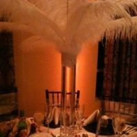 Beauty, Reception, Flowers & Decor, white, Feathers, Centerpieces, Centerpiece, Feather