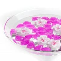 white, pink, purple, Candles, With, Floating, Acrylic, Stones, Flower-shaped