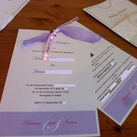 Stationery, pink, purple, Invitations