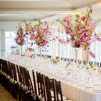 Reception, Flowers & Decor, white, pink, Centerpieces, Flowers, Table, Elizabeth andrew
