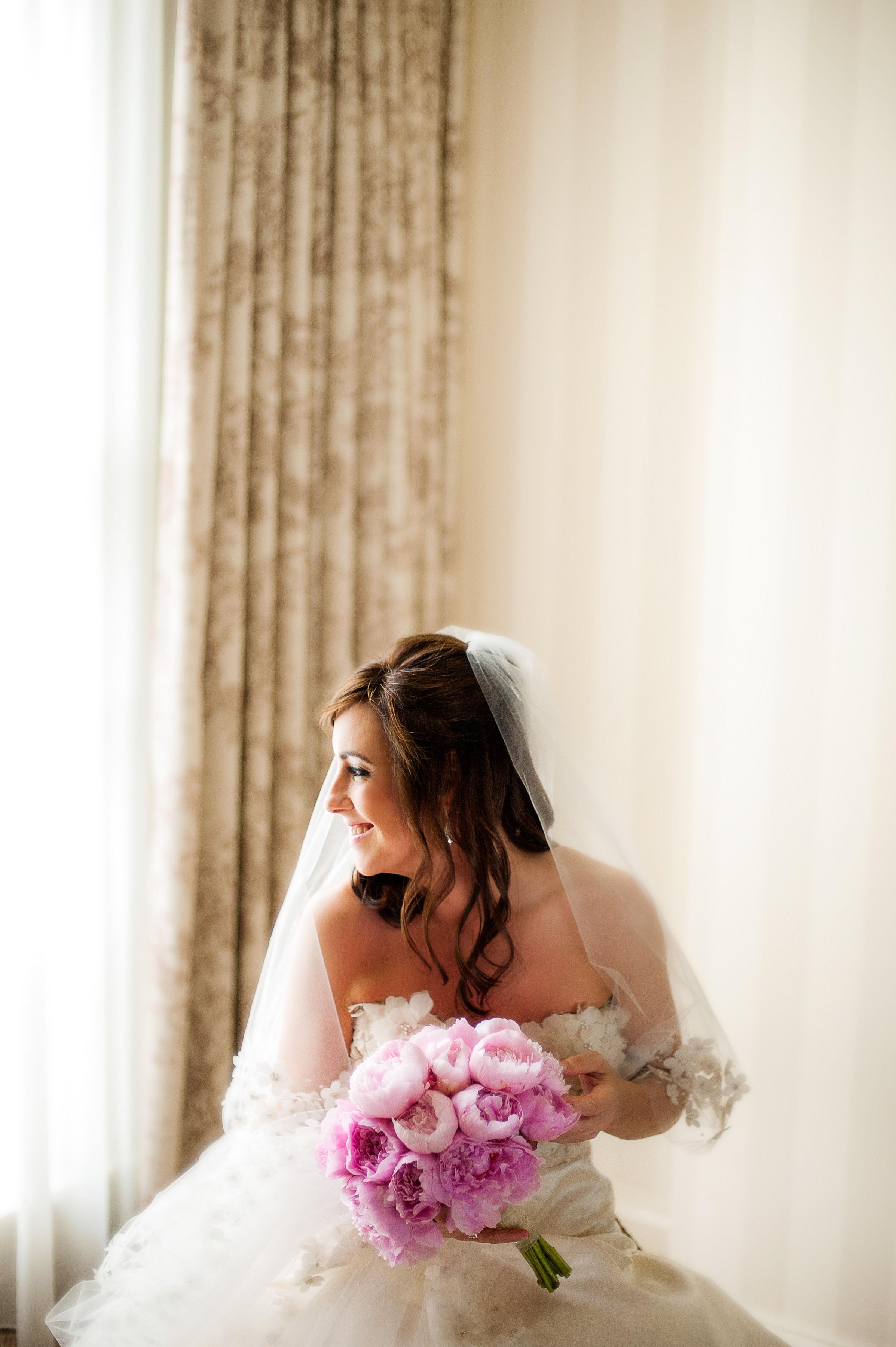 pink, Bride, Bouquet, Elizabeth andrew