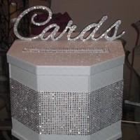 Reception, Flowers & Decor, silver, Cardbox, Bling